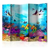 Parawan 5-częściowy - podwodna zabawa room dividers