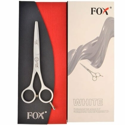 FOX profesjonalne nożyczki fryzjerskie do strzyżenia White