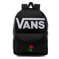 Plecak szkolny vans old skool iii custom red rose róża - vn0a3i6ry28