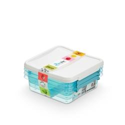 Pojemnik do przechowywania żywności arcticline kwadratowy, zestaw 3 pojemników 3 x 0,6 l