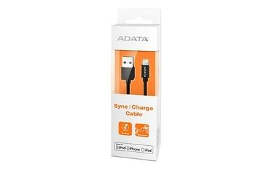 Adata Kabel USB-Ligthning 1m Apple Cert. Black pla