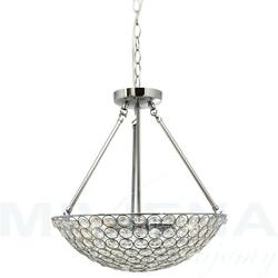 Chantilly lampa wisząca 4 chrom kryształowe szkło