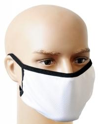 Biała maseczka na twarz - maska ochronna wielorazowa ms-b2w
