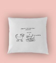 English for your dog poduszka biała u