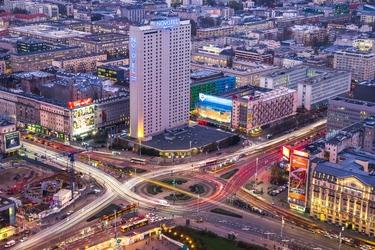 Warszawa centrum - plakat premium wymiar do wyboru: 91,5x61 cm