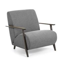 Tapicerowany fotel madras 78x86 cm szary
