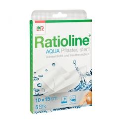 Ratioline aqua duschpflaster plus 10x15cm steril