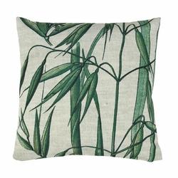 HK LIVING :: poduszka w bambusy 45 X 45 CM - Zielony || Biały