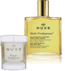 Nuxe zestaw huile prodigieuse olejek 50ml + świeczka 70g