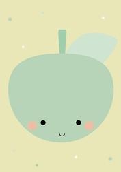 Miętowe jabłuszko - plakat Wymiar do wyboru: 20x30 cm