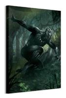 Black panther forest chase - obraz na płótnie