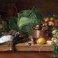warzywa i grzyby - jan chrucki ; obraz - reprodukcja