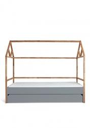 Bellamy lotta łóżko domek 90x200 z szufladą gray