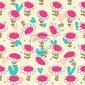 Fototapeta wzór kwiatowy bez szwu baby