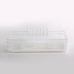 Suszarka do naczyń stojąca  na blat kuchenny z tacką jednopoziomowa metpol biała 35 cm