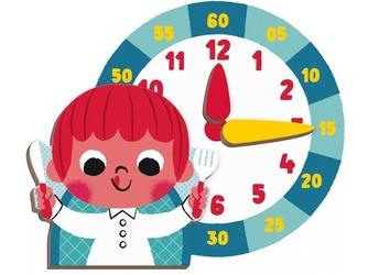 Zegar nauka czasu magnetyczna układanka magnetibook