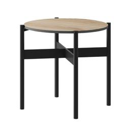 Stolik kawowy loft 55 cm czarnyjackson hickory