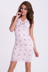 Emamoda sukienka - pudrowy róż 48029-4