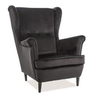 Elegancki tapicerowany fotel lord velvet