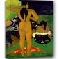 Tahitian women bathing, paul gauguin - obraz na płótnie