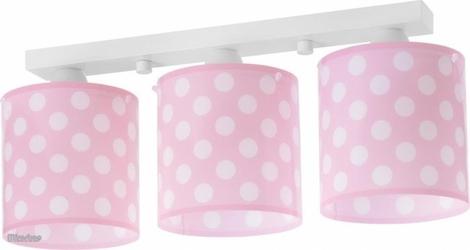Lampa sufitowa listwa grochy pink dots 3xe27 61003s