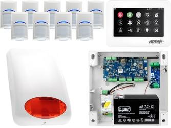 Zestaw alarmowy ropam neogsm-ip 9 x czujka bosch manipulator dotykowy tpr-4ws wifi gsm
