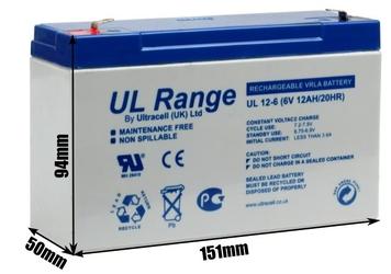 Akumulator agm ultracell ul 6v 12ah żelowy - szybka dostawa lub możliwość odbioru w 39 miastach
