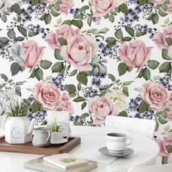 Tapeta na ścianę - pink roses art , rodzaj - próbka tapety 50x50cm
