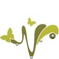 Wieszak ścienny dekoracyjny Butterfly CalleaDesign oliwkowo-zielony 50-13-1-54