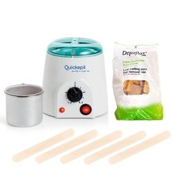 Quickepil zestaw do depilacji woskiem twardym bezpaskowym 250g 1.5