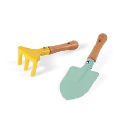 Mały ogrodnik zestaw narzędzi ogrodowych łopatka i grabki, janod