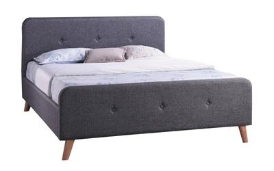 Łóżko tapicerowane Ewana 160x200 szare