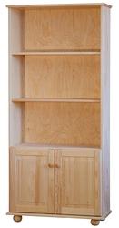 Drewniany regał z drzwiczkami classic