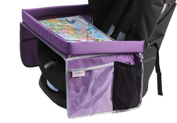 Bezpieczny stolik podróżnika - fioletowy