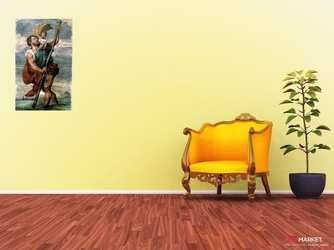 święty krzysztof - tycjan ; obraz - reprodukcja