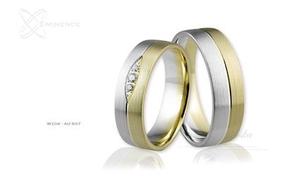 Obrączki ślubne - wzór au-807