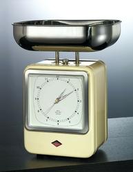 Waga retro kuchenna z zegarem różowa wesco 322204-26