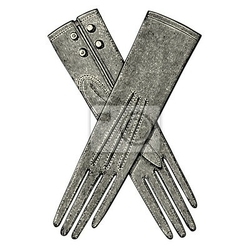 Naklejka gants de femme