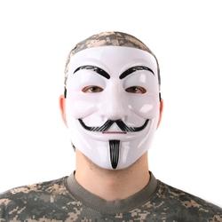 Maska Anonymous - Biała