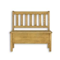Ławka z oparciem 100 cm cevilo i drewniana