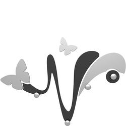 Wieszak ścienny dekoracyjny Butterfly CalleaDesign czarny 50-13-1-5