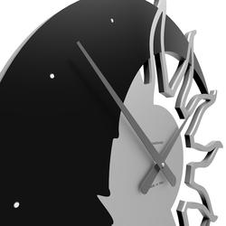 Zegar ścienny sun  moon calleadesign swarovski crystals terakota 10-209-24
