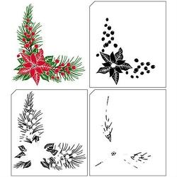 Stempel świąteczny warstwowy 3d narożnik - narożnik