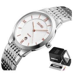 Zegarek damski skmei 9139 srebrny datownik