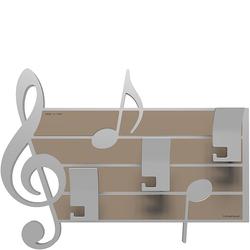 Wieszak ścienny dekoracyjny Puccini CalleaDesign aluminium 51-13-3-2