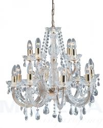 Marietherese lampa wisząca 12 złoty kryształ
