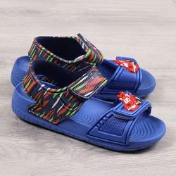 Sandały chłopięce na rzep niebieskie american club - niebieski