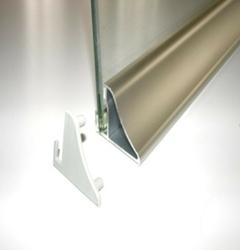 Profil do półek szklanych podświetlanych taśmą led m6s - 600 mm