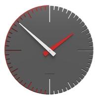 Zegar ścienny do pokoju młodzieżowego exacto 36 cm calleadesign ciemnoszary 10-025-64