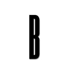 Litera czarna akrylowa 8 cm Design Letters B